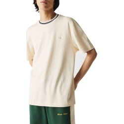 Men's Lacoste Men's Striped Neck T-Shirt, Size 4 - Ivory found on Bargain Bro India from Nordstrom for $75.00
