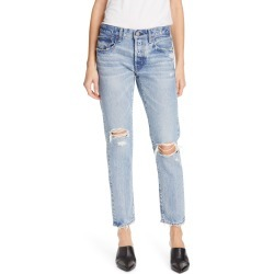 Women's Moussy Vintage Lawton Ripped Crop Tapered Jeans, Size 28 - Blue found on MODAPINS from Nordstrom for USD $350.00