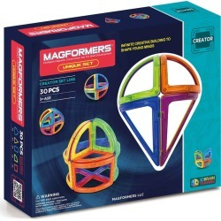 Toddler Magformers 'Creator - Unique' Magnetic 3D Construction Set found on Bargain Bro India from Nordstrom for $59.99