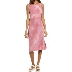 Women's Treasure & Bond Tie Dye Midi Tank Dress, Size X-Small - Red found on MODAPINS from Nordstrom for USD $59.00