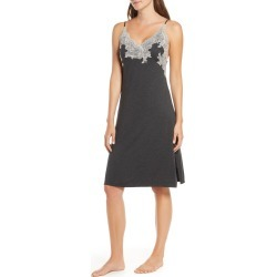 Women's Natori Luxe Shangri-La Nightgown, Size Small - Grey found on MODAPINS from Nordstrom for USD $130.00