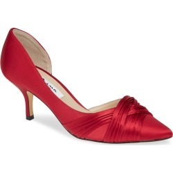 Women's Nina Blakely Half D'Orsay Pointy Toe Pump, Size 7 M - Red found on Bargain Bro Philippines from LinkShare USA for $78.95