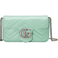 Gucci Super Mini Gg Matelasse Leather Crossbody Bag - Green found on MODAPINS from Nordstrom for USD $890.00