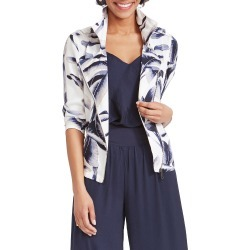 Petite Women's Nic+Zoe Botanical Leaf Jacket, Size Small P - White found on Bargain Bro from Nordstrom for USD $99.41