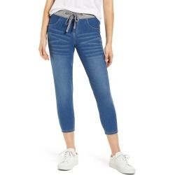 Women's Hue Denim Capri Sweatpants, Size Large - Blue found on MODAPINS from Nordstrom for USD $40.00