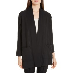 Petite Women's Eileen Fisher Long Kimono Cardigan, Size Medium P - Grey