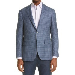 Men's Canali Kei D7 Check Sport Coat, Size 46 US - Blue found on Bargain Bro from Nordstrom for USD $1,254.00