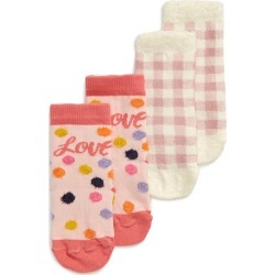 Toddler Girl's Tucker + Tate Chamois 2-Pack Crew Socks, Size 4.5-8.5 - Pink found on Bargain Bro Philippines from Nordstrom for $15.00