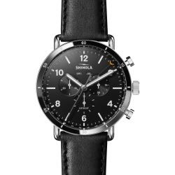 Men's Shinola The Canfield Chrono Leather Strap Watch, 45mm found on Bargain Bro India from Nordstrom for $850.00