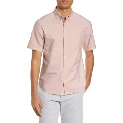 Men's Club Monaco Short Sleeve Button-Down Oxford Shirt, Size X-Large - Beige found on Bargain Bro Philippines from LinkShare USA for $33.56