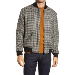 Men's Oliver Spencer Bermondsey Houndstooth Wool Bomber Jacket, Size 36 - Grey found on MODAPINS from Nordstrom for USD $341.50