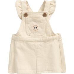Infant Girl's Seed Heritage Denim Pinafore, Size 0-3M - Beige