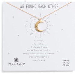 Women's Dogeared We Found Each Other Crescent Pendant Necklace found on Bargain Bro India from Nordstrom for $47.99