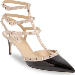 Women's Valentino Garavani Rockstud Strappy Pointed Toe Pump, Size 8US - Black found on MODAPINS from Nordstrom for USD $995.00