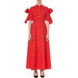 Women's Carolina Herrera Bow Sleeve Cotton Poplin Maxi Shirtdress found on MODAPINS from LinkShare USA for USD $895.00