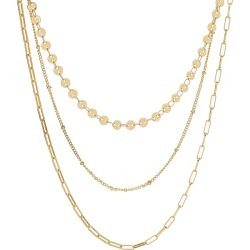 Women's Panacea Triple Layer Chain Necklace found on MODAPINS from Nordstrom for USD $25.00