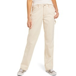 Women's Dickies Relaxed Fit Carpenter Pants, Size 9 - Ivory found on Bargain Bro India from LinkShare USA for $59.00
