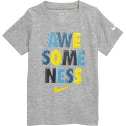 Toddler Boy's Nike Awesomeness Graphic Tee, Size 3T - Grey found on Bargain Bro India from Nordstrom for $18.00
