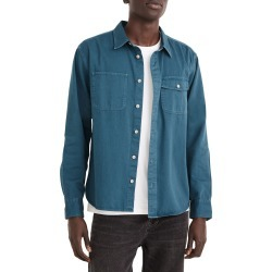 Men's Madewell Garment Dyed Work Shirt, Size Small - Blue found on Bargain Bro from Nordstrom for USD $64.60