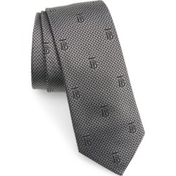 Men's Burberry Manston Monogram Silk Tie, Size One Size - Grey found on Bargain Bro India from Nordstrom for $190.00