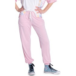Women's Pj Salvage Sunset Crochet Inset Terry Joggers, Size Large - Pink found on Bargain Bro from Nordstrom for USD $48.64