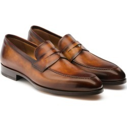 Men's Magnanni Rolly Apron Toe Penny Loafer, Size 11 M - Brown found on Bargain Bro from Nordstrom for USD $300.20