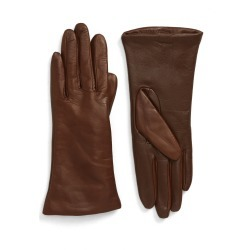 Women's Nordstrom Cashmere Lined Leather Touchscreen Gloves, Size 8.5 - Brown found on Bargain Bro India from LinkShare USA for $99.00