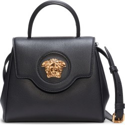 Versace Small La Medusa Leather Satchel - Black found on MODAPINS from Nordstrom for USD $1695.00