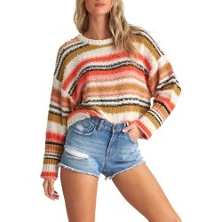 Women's Billabong Easy Going Sweater, Size Medium - Coral