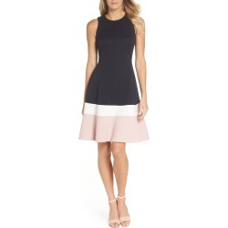 Women's Eliza J Colorblock Texture Knit Fit & Flare Dress found on Bargain Bro India from Nordstrom for $59.20