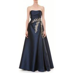 Women's Carolina Herrera Crystal Embellished Strapless Taffeta Ballgown, Size 6 - Blue found on MODAPINS from LinkShare USA for USD $2995.00