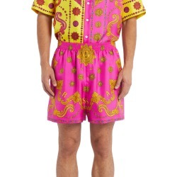 Men's Versace Print Silk Shorts, Size 50 EU - Pink found on MODAPINS from Nordstrom for USD $895.00