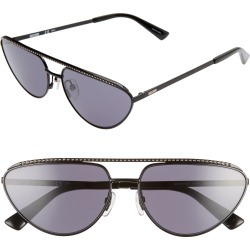 Women's Moschino 60Mm Cat Eye Sunglasses - Black/ Grey Blue found on Bargain Bro Philippines from Nordstrom for $245.00