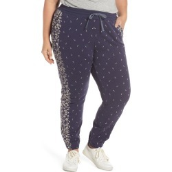 Plus Size Women's Lucky Brand Floral Joggers, Size 2X - Blue found on MODAPINS from Nordstrom for USD $69.50