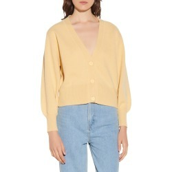Women's Sandro Wool Cardigan, Size 0 - Yellow found on Bargain Bro from Nordstrom for USD $224.20