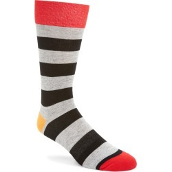 Men's Fun Socks Stripe Socks, Size One Size - Grey found on MODAPINS from Nordstrom for USD $7.20