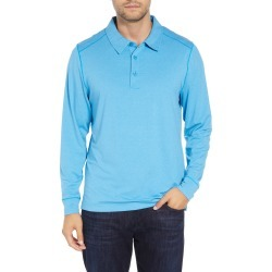 Men's Big & Tall Cutter & Buck Matthew Drytec Long Sleeve Polo, Size 4XLT - Blue found on Bargain Bro from Nordstrom for USD $83.60