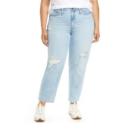 Plus Size Women's Madewell Ripped Relaxed Jeans, Size 20W - Blue found on MODAPINS from Nordstrom for USD $135.00