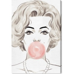 Oliver Gal Bubblegum Beauty Canvas Wall Art