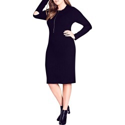 Plus Size Women's City Chic Zipped Up Sweater Dress found on MODAPINS from Nordstrom for USD $119.00