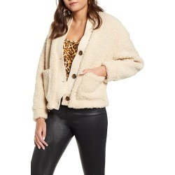 Women's Vero Moda Annika Short Teddy Jacket, Size Small - Beige found on Bargain Bro Philippines from Nordstrom for $79.00