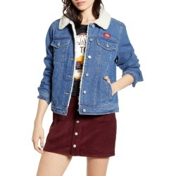 Women's Dickies Faux Shearling Lined Denim Jacket, Size Large - Blue found on Bargain Bro India from LinkShare USA for $99.00