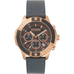 Men's Versus Versace Admiralty Chronograph Leather Strap Watch, 44Mm found on Bargain Bro India from Nordstrom for $290.00