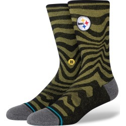 Men's Stance Dash Steelers Crew Socks, Size Large - Black found on MODAPINS from Nordstrom for USD $19.99