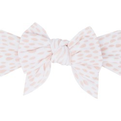 Baby Bling Dang-Enormous-Bow Polka Dot Headband, Size One Size - White found on Bargain Bro from Nordstrom for USD $12.16