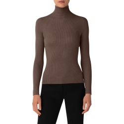 Women's Akris Cashmere & Silk Rib Turtleneck found on MODAPINS from Nordstrom for USD $995.00