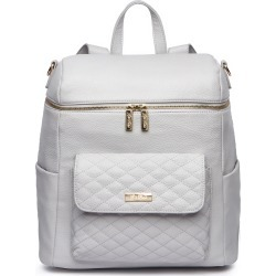 Infant Girl's Luli Bebe Monaco Faux Leather Diaper Backpack - Beige found on Bargain Bro from Nordstrom for USD $120.84