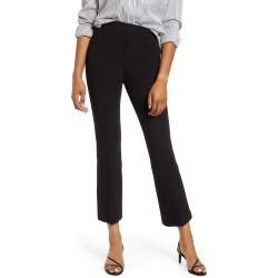 Petite Women's Spanx Ponte Crop Flare Pants, Size 3 X - Black