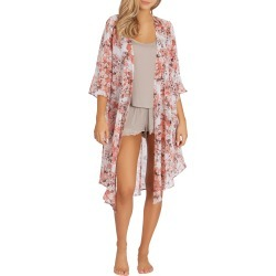 Women's Midnight Bakery Floral Print Chiffon Duster found on MODAPINS from Nordstrom for USD $48.00