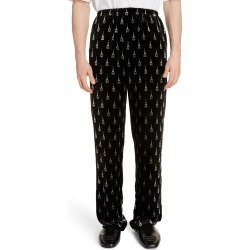 Men's Balenciaga Eiffel Tower Velvet Pyjama Pants, Size 50 EU - Black found on MODAPINS from Nordstrom for USD $1290.00